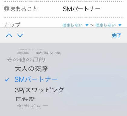 ハッピーメールでSMパートナーを探す方法(プロフィール検索)